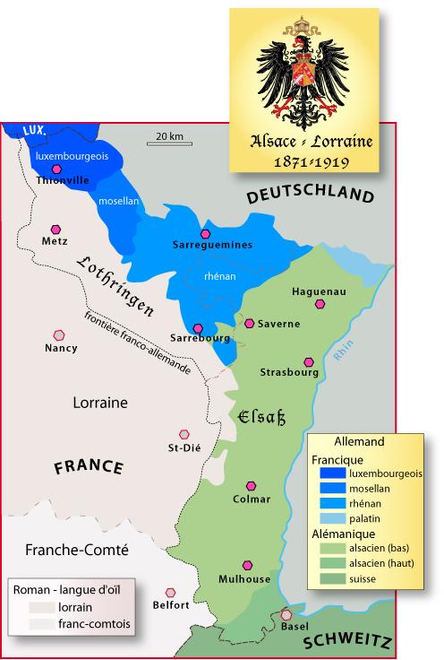 Carte Annexion Alsace Lorraine.Les Vicissitudes Historiques Alsaciennes